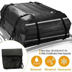Cubic Cargo Roof Top Carrier Bag Rack Storage Luggage Waterproof Car Travel