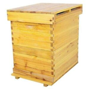 Beekeeping Cedar Wooden Honey Super Brood Box Case For 10 Frames Bee Hive House