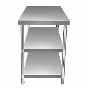 Working Table 24 x60 Commercial Kitchen Food Diningroom 3 Layer Stainless Steel