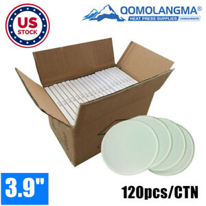 Us Stock 120pcs Blank Sublimation Glass Coaster Coffee Cup Mat By Press Transfer