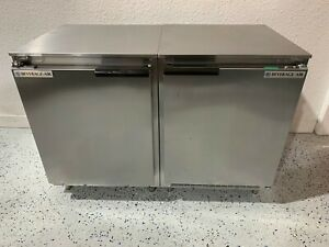 Lot Of 2 Beverage Air 20 Under Counter Stainless Refrigerator Coolers Ucr20