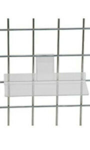 Acrylic Shoe Shelf 10 L X 4 H Inches For Wire Gridwall Lot Of 10