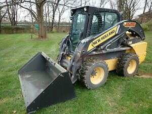 2012 New Holland L225 Skid Steer Erops Heat 2 Speed 1016 Hrs Aux Hydraulics