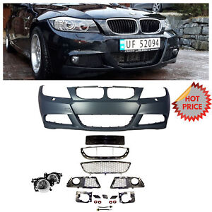 2009 11 Lci E90 Mtech Style Front Bumper For Bmw 3 Series No Pdc W Fog Lights