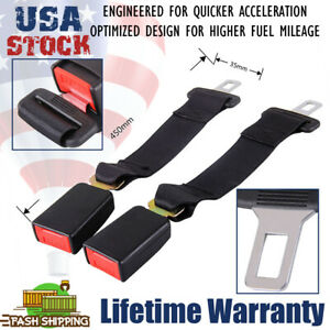 2pcs 14 Car Seat Seatbelt Safety Extender Belt Extension 7 8 Buckle Universal