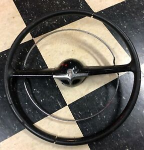 1949 50 Mercury Steering Wheel Black Needs Refurb Hot Rod Rare