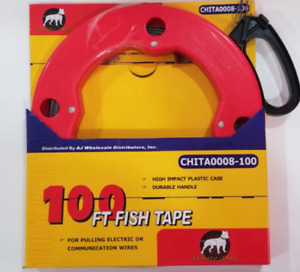 New 100 Ft Fish Tape Wire Cable Puller