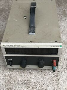 Kenwood Pd35 10d Dc 0 35v 0 10a Adjustable Linear Bench Power Supply