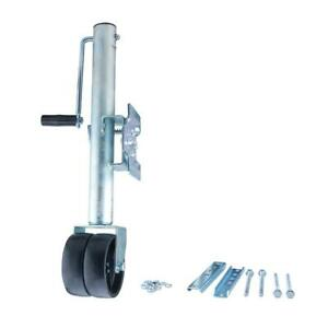 Max Load 2000 Lb Side Wind Trailer Jack With Dual Wheels