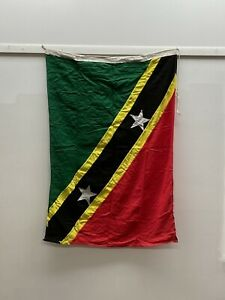 Salvaged Vintage Nautical International Country Flag Saint Kitts And Nevis