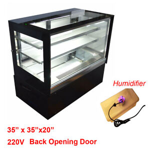 35x20x34 Refrigerated Display Case Cube Cabinet Back Door With Humidifier 220v