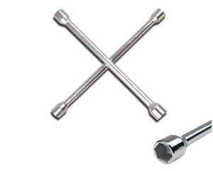4 Way Lug Wrench 14 Universal Auto Tire Care Matte Heavy Duty 6 Point Socket Us