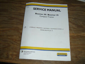 New Holland Boomer 35 Tractor Engine Hydraulic Electrical Wiring Diagrams Manual