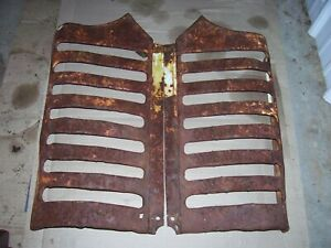 Vintage Oliver 55 Tractor Grille Screen Set Rusty