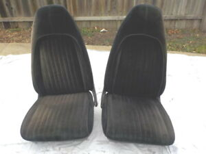 Oem Mopar 70 71 72 73 A B E Body Bucket Seat Set With Tracks Cuda Duster Gtx