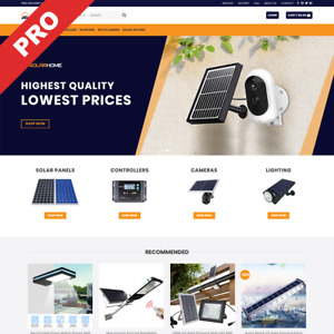 Solar Home Store Premium Dropshipping Website Automated Turnkey Business