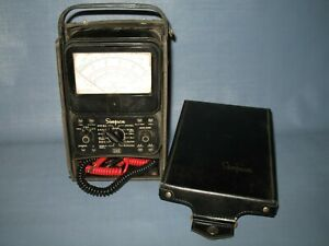 Simpson 260 Series 5 Volt ohm milliammeter In Black Case Tested Working