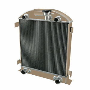 4 Row Aluminum Radiator For 1928 1929 Ford Model A With Flathead V8 Engine At Mt