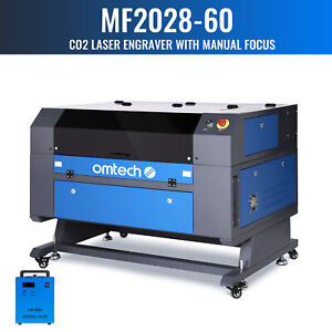 Omtech 28x20 Inch 60w Co2 Laser Engraver Cutter Ruida With Cw 3000 Water Chiller