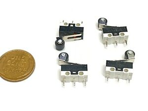 4 X Roller Limit Micro Switch Mini Small Kw10 z4p Momentary Spdt Nc No B12