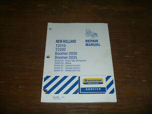 New Holland T2210 T2220 Tractor Hydraulic Brake Pto Shop Service Repair Manual