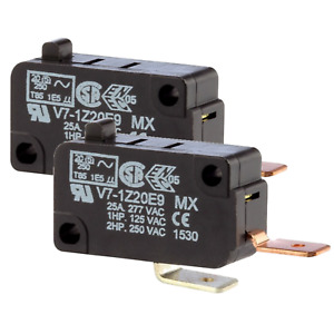 25a Micro Switch Normally Open Snap Action Switch 250 Connects 2pk