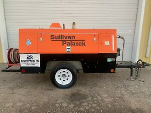 2015 Sullivan Palatek D185pd Towable Air Compressor 185 Cfm 110 Psi 145 Hours