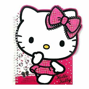 Sanrio Hello Kitty School Supply Kitty Face Die Cut Spral Notebook Note Pad pin