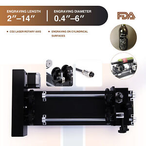 Rotary Axis For Cylinder Surface Rotation Platform For Co2 Laser Engraver Cutter