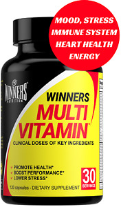 Winners Daily Multivitamin Supplement For Mood Stress Immune System 120 Caps