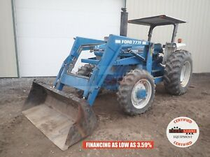 1988 Ford 5610 Ll Tractor W Loader Canopy 4x4 3 Pt 540 Pto 3 Remote 72 Hp