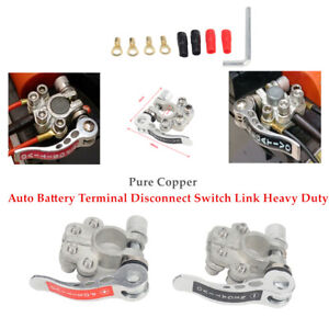 2 pure Copper Car Battery Terminal Disconnect Switch Link Heavy Duty Durable