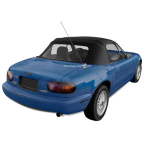 Mazda Miata 1990 05 Convertible Soft Top Plastic Window Rain Rail Black