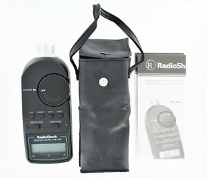 Radio Shack Digital Sound Level Meter Tester 33 2055 With Case Manual
