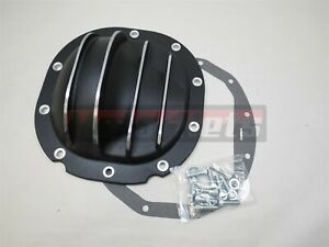 Black Aluminum Differential Cover 8 8 Ring Gear 10 Bolt Ford Truck Bronco E van