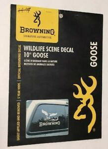 New In Original Packaging Official Browning Buckmark Decal 10 Goose