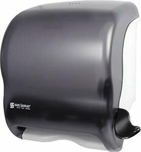 San Jamar T950tbk Element Lever Roll Towel Dispenser Classic Transparent Blac