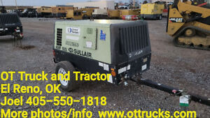 2012 Sullair 49hp185dpq 185 Cfm Towable Portable Air Compressor 100psi Work