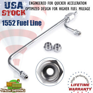 Fuel Line Chrome Steel 4150 Series Barb Inlet Kits Dual Feed Hard Tube 3 8 Hose