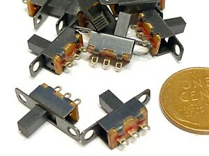 15 Pieces Ss12f15g6 On off 2 Position 1p2t Spdt Panel Mini Slide Switch C12