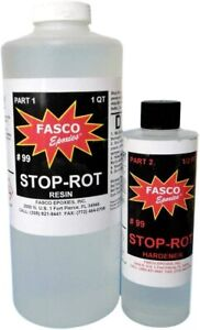 Stop rot Penetrating Epoxy For Repairing Rotten Wood 40 Ounce Kit