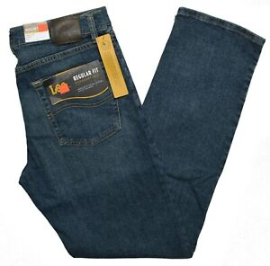 Lee #10363 NEW Men#x27;s Regular Fit Straight Leg Active Stretch Chief Jeans $19.99