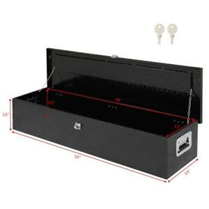 49 Aluminum Tool Box Tote Storage For Truck Pickup Bed Trailer Tongue Black