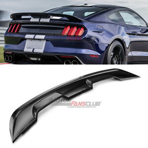 For Ford Mustang Coupe 2015 2020 Gt500 Style Trunk Spoiler Wing Gloss Black Abs