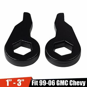 For 99 06 Chevy Gmc 1 3 Lift Leveling Kit Front Torsion Bar Key Forged Steel Fits 2000 Silverado 1500