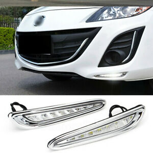 For 2010 2011 2012 Mazda 3 Axela Fog Lamp Mazda 3 Drl Led Daytime Running Light