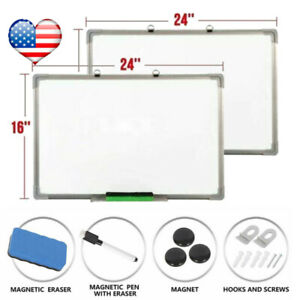 Magnetic Whiteboard 16 X 24 Inch Dry Erase White Board Wall Hanging Board Lot