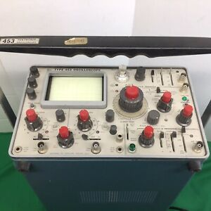 Tektronix 453 Oscilloscope Two Channel Tested Working