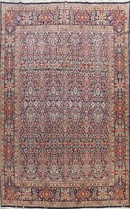 Vegetable Dye Semi Antique Traditional Oriental Area Rug Wool Hand Knotted 10x13