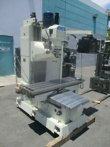 Acra 12 X 60 Heavy Duty Cnc Bed Mill With Anilam 3000 M Control 40 Taper